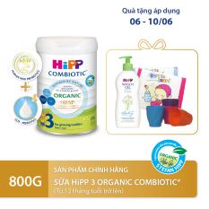 [QUÀ TẶNG HOT] Sữa bột dinh dưỡng công thức HiPP 3 Organic Combiotic chất lượng hữu cơ tự nhiên an toàn, hỗ trợ, tăng cường sức khoẻ hệ miễn dịch, bổ sung Canxi và vitamin D dành cho trẻ trên 12 tháng tuổi 800g