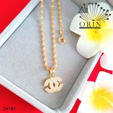 Dây chuyền nữ dạng xoắn mặt chữ x nhỏ đính đá thiết kế bền màu đẳng cấp Orin D4181