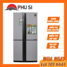 TRẢ GÓP 0% – BẢO HÀNH 1 NĂM – Tủ Lạnh Sharp Sj-Fx631V-Sl 626L Inverter