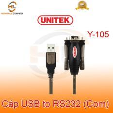 [Nhập ELAPR21 giảm 10% tối đa 200k đơn từ 99k]Cáp USB sang Com (RS232) 1.5m Unitek Y105