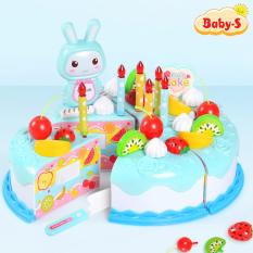 Đồ chơi bánh kem sinh nhật cao cấp 37 chi tiết bằng nhựa ABS nguyên sinh an toàn làm quà tặng sinh nhật cho bé yêu Baby-S – SDC031
