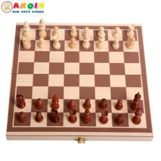 Đồ chơi cờ vua quốc tế gỗ – bàn chơi gập lại thành hộp đựng cao cấp