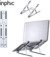 Giá đỡ máy tính bằng hợp kim nhôm INPHIC R5 điều chỉnh 7 cấp độ cho máy từ 10-15,6 inch có thể gập lại – Chính Hãng