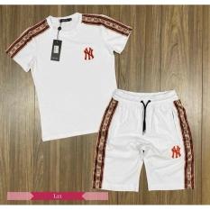 Bộ đồ nam thể thao hè cao cấp Logo INĐỎ, chất liệu thun lạnh 4 chiều, phong cách thể thao, màu trắng, full size M L XL XXL từ 35-90kg