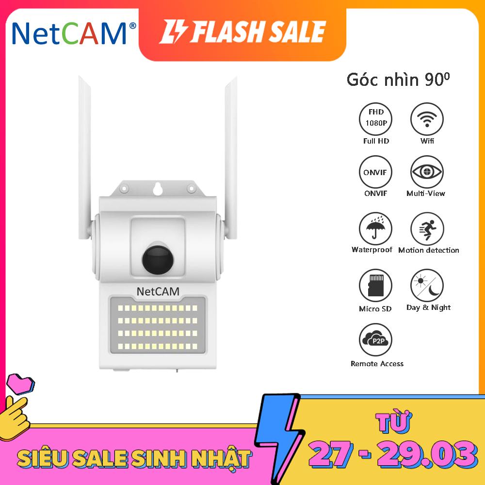 Camera IP Wifi NetCAM WL90 1080P – Góc Nhìn Rộng 90º, Có Cảnh Báo Chuyển Động