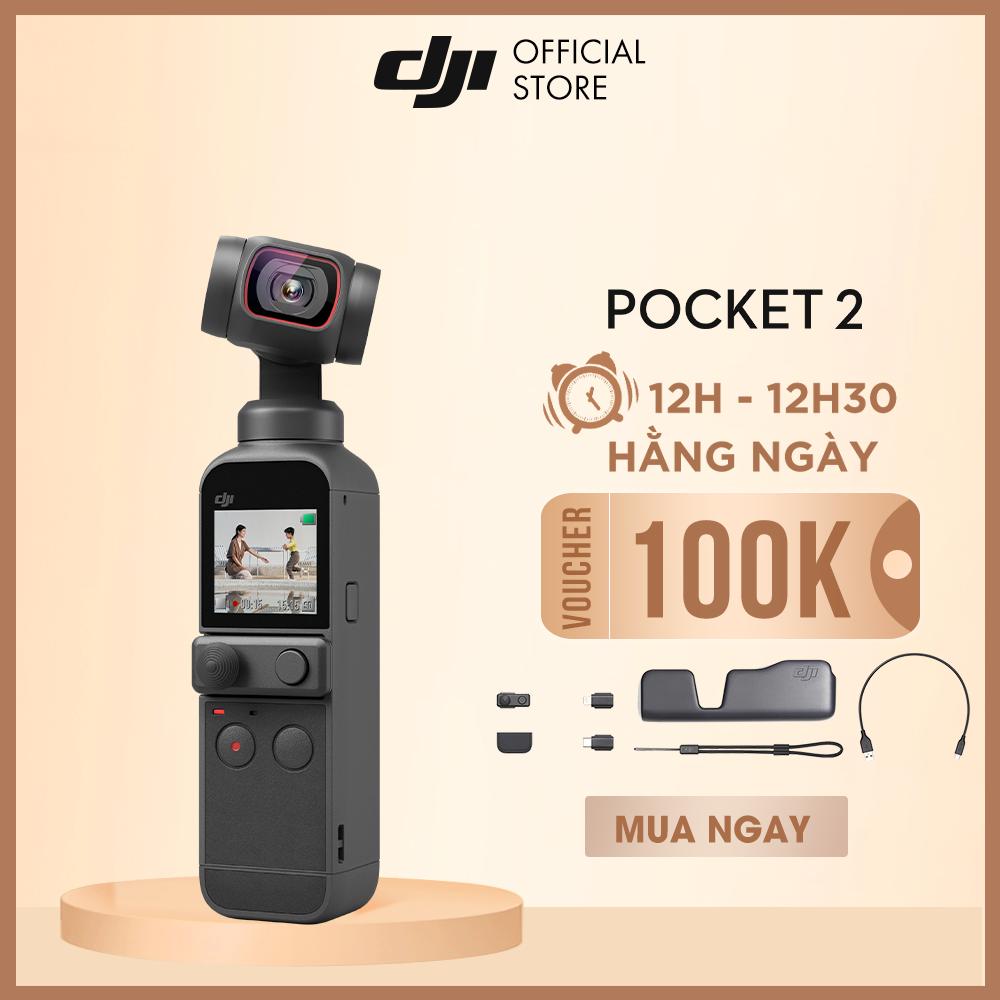 Máy quay phim DJI Osmo Pocket 2 chống rung 4K 60fps Hàng chính hãng