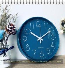 [ 08 Mẫu Cao Cấp] Đồng hồ treo tường Quartz kim trôi cao cấp 30cm – Không tiếng động