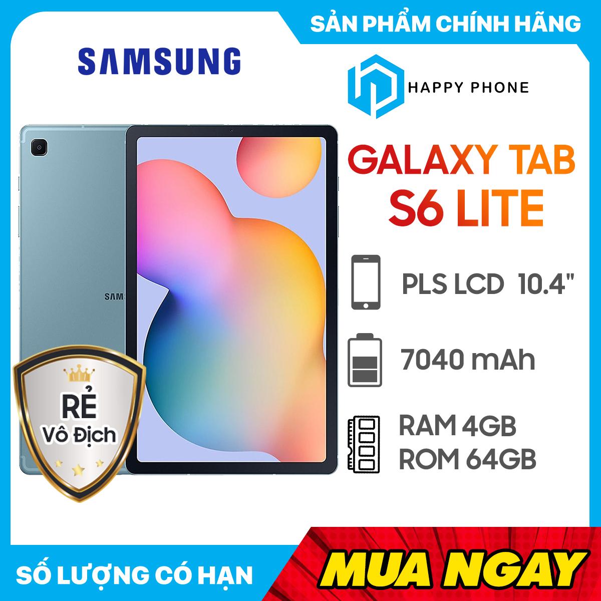 [Trả góp 0%] Máy Tính Bảng Samsung Galaxy Tab S6 Lite (4GB/64GB) - Hàng Chính Hãng, Mới 100%, Nguyên Seal...