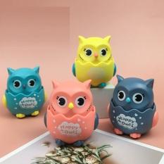 (Xả Hàng)Đồ Chơi Chim Cú Chạy Và Xoay 360 Độ Happy Owl 8x6x7cm, Cú Mèo,Chạy Trớn