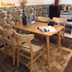 Bộ bàn ăn Mango Twin Home – màu gỗ tự nhiên