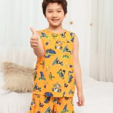 Bộ lanh Việt Thắng quần đùi, áo sát nách bé trai từ 2-12 tuổi B62.2120 – Thoải mái vận động