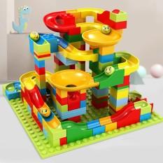{Xả kho} Bộ Xếp Hình Cầu Trượt Lego Thả Bi 165 Chi Tiết Cho Bé, Đồ Chơi Xếp Hình Phát Triển Trí Não