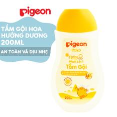 Tắm gội dịu nhẹ Pigeon Hoa hướng dương 200ml (MẪU MỚI)