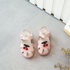 Sandal Đế Cao Su Mềm Cho Bé Gái Có Đính Quả Cherry Siêu Cute