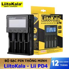 Sạc pin thông minh đa năng LiitoKaLa Lii-PD4 màn hình hiển thị LCD, sạc pin AA, AAA, 18650, 26650, 21700…