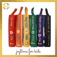 Combo 6 sách vải nhận biết đa giác quan chủ đề màu sắc cho trẻ từ sơ sinh
