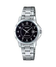 Đồng hồ nữ dây thép không gỉ Casio Anh Khuê LTP-V004D-1BUDF