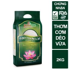 Gạo Thơm Lài Lotus Rice 2kg – Cơm ngon dẻo vừa – Chuẩn xuất khẩu