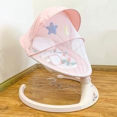 Nôi điện tự động ru ngủ KUB cho bé có kết nối loa bluetooth – Màu Hồng – Hàng chính hãng – Bảo hành 1 năm