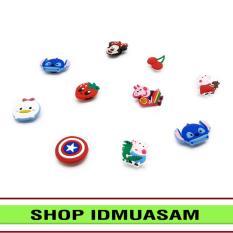 Bộ 10 Sticker 2D gắn dép nữ bít mũi thời trang cao cấp IDMUASAM S4011 (Cập nhật mẫu thường xuyên nên giao ngẫu nhiên không lựa mẫu)