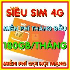 Siêu Sim 4G Vietnamobile có 180GB/Tháng gói TRỌN ĐỜI – Đã có sẵn miễn phí sẵn tháng đầu + Nghe Gọi Nội Mạng Miễn Phí – Shop Sim Giá Rẻ
