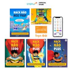 Sách – Combo 5 cuốn Hack Não 1500 Từ Vựng Tiếng Anh, Ngữ Pháp, Plus A+B và Giao Tiếp – Tặng App Hack Não Pro học phát âm