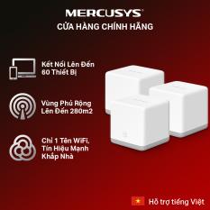 [300m2 bao trọn🚀]Hệ thống wifi Mesh cho gia đình Mercusys Halo S3(3-pack) Hãng phân phối chính thức