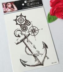 Combo 3 tấm hình xăm mỏ neo 15x21cm- mua 1 tặng 1 mini tattoo