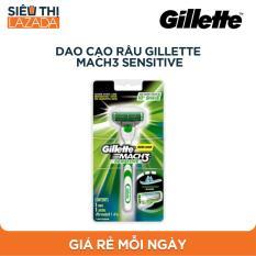 Dao cạo râu Gillette Mach3 Sensitive