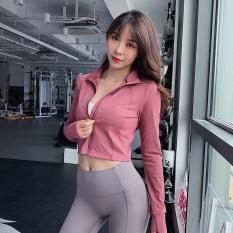 310 Áo khoác thể thao nữ NAQI body dài tay khoá kéo đồ tập gym nữ tập yoga nữ giá rẻ