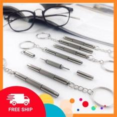Móc chìa khoá tua vít đa năng, chuyên dụng sửa chữa đồng hồ/chỉnh ốc vít cho kính mát,kính cận,kính thời trang