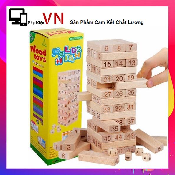 ⚡ Trò Chơi Rút Gỗ Nhỏ 54 Thanh – Nguyên bộ đồ chơi rút gỗ giá rẻ. Đồ chơi rút gỗ .Trò chơi trí tuệ nâng cao. Trò chơi phát triển xúc giác, thị giác và não bộ cho trẻ. Rút gỗ- Trò chơi siêu vui bữa tiệc người lớn⚡