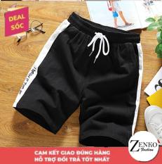 Quần Short Đùi Nam Viền Sọc In Chữ Phong Cách Trẻ Trung Cá Tính HNDC Zenko MEN SHORTS 051