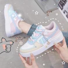 Giày Thể Thao nữ Sneaker nữ Air, phối màu siêu đẹp, chất liệu da cao cấp, đế độn 5 phân, giày nữ đi học, đi chơi