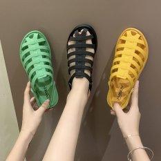 Sandal Nữ Nhựa Dẻo Đi Mưa Kiểu Dáng Hàn Quốc