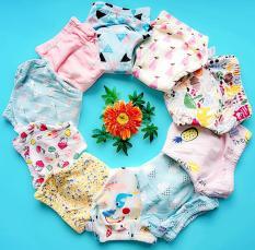 10 Quần bỏ bỉm Goodmama – bé gái, vải 100% cotton mịn mát giúp bé thông thoáng, không bị hăm tã như tã giấy