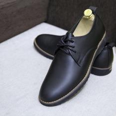 Giày Da Nam Cao Cấp, Giày Tây Nam Công Sở Hàng Đẹp Kiểu Buộc Dây Phong Cách Hàn Quốc NT09