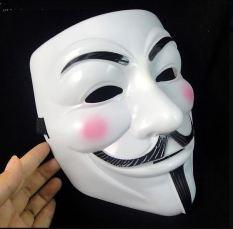 Mặt nạ Hacker mặt nạ Anonymous hóa trang (Trắng)
