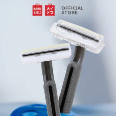 Bộ 10 dao cạo râu 2 lưỡi tiện dụng Dao cạo Miniso tiện dụng cho nam dao cạo râu đa năng
