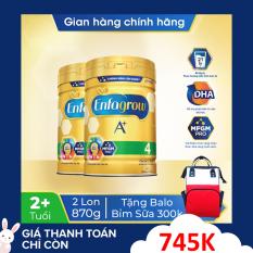 [FREESHIP TOÀN QUỐC]Bộ 2 lon sữa bột Enfagrow 4 cho trẻ trên 2 tuổi 870g + Tặng 1 balo bỉm sữa cho mẹ trị giá 300k – Cam kết HSD còn ít nhất 10 tháng