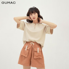 Áo kiểu thời trang nữ phối cổ thắt nơ GUMAC mẫu mới AB3115