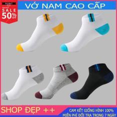 [Combo 5] Set 5 đôi tất nam cổ ngắn, 5 màu khác nhau, chất liệu co dãn