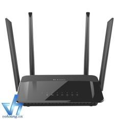 Router wifi công suất cao 4 ăng-ten băng tần kép AC1200 Dlink Dir-822