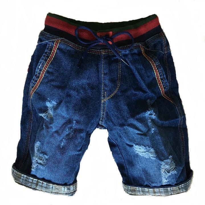 Quần jean ngắn bé trai 3 - 13 tuổi SHJBT1