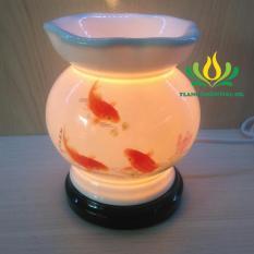 Đèn xông tinh dầu con cá + tặng kèm tinh dầu bạc hà của cty Y Lang