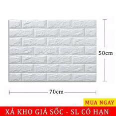 10 tấm Xốp Dán Tường 3D Giả Gạch Bóc Dán / Chịu lực, chống nước, chống ẩm mốc / 70x77cm