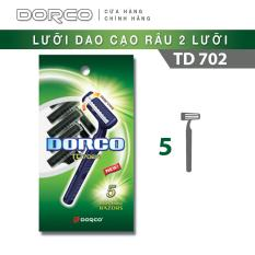 Dao cạo râu 2 lưỡi DORCO TD 702 ( gói 5 dao cạo )