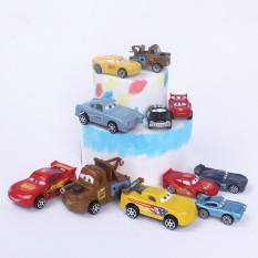 Set 6 đồ chơi xe ô tô trang trí bánh kem siêu xe trang trí bánh