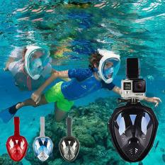 Mặt lạ bơi lặn xuất khẩu – Mặt Nạ Lặn Biển Fullface – KÍnh Lặn Ống Thở Snorkeling, Mặt lạ lặn có ống thở, van 1 chiều,không vào nước,góc nhìn 180 độ,gắn được camera,lặn được sâu,bảo hành toàn quốc