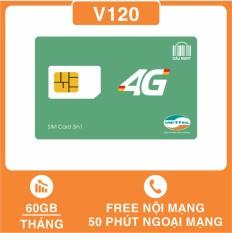 SIM 4G Viettel V120 Tặng 62GB/Tháng, Miễn Phí gọi nội mạng, Tặng thêm 50 phút gọi ngoại mạng / tháng, Thay Thế SIM V90 – DMC Telecom